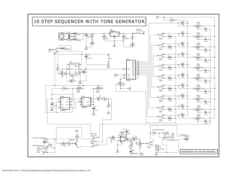 10 step analog sequencer