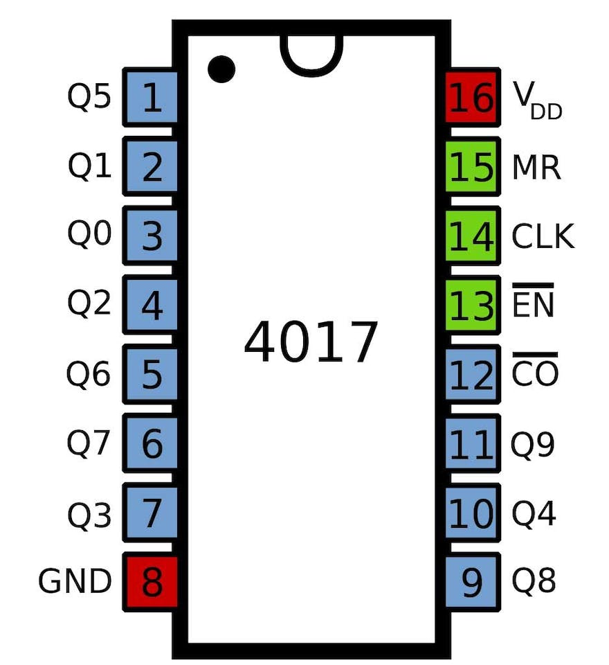 Led Chaser Circuit 555 Timer With Theory Delay Off
