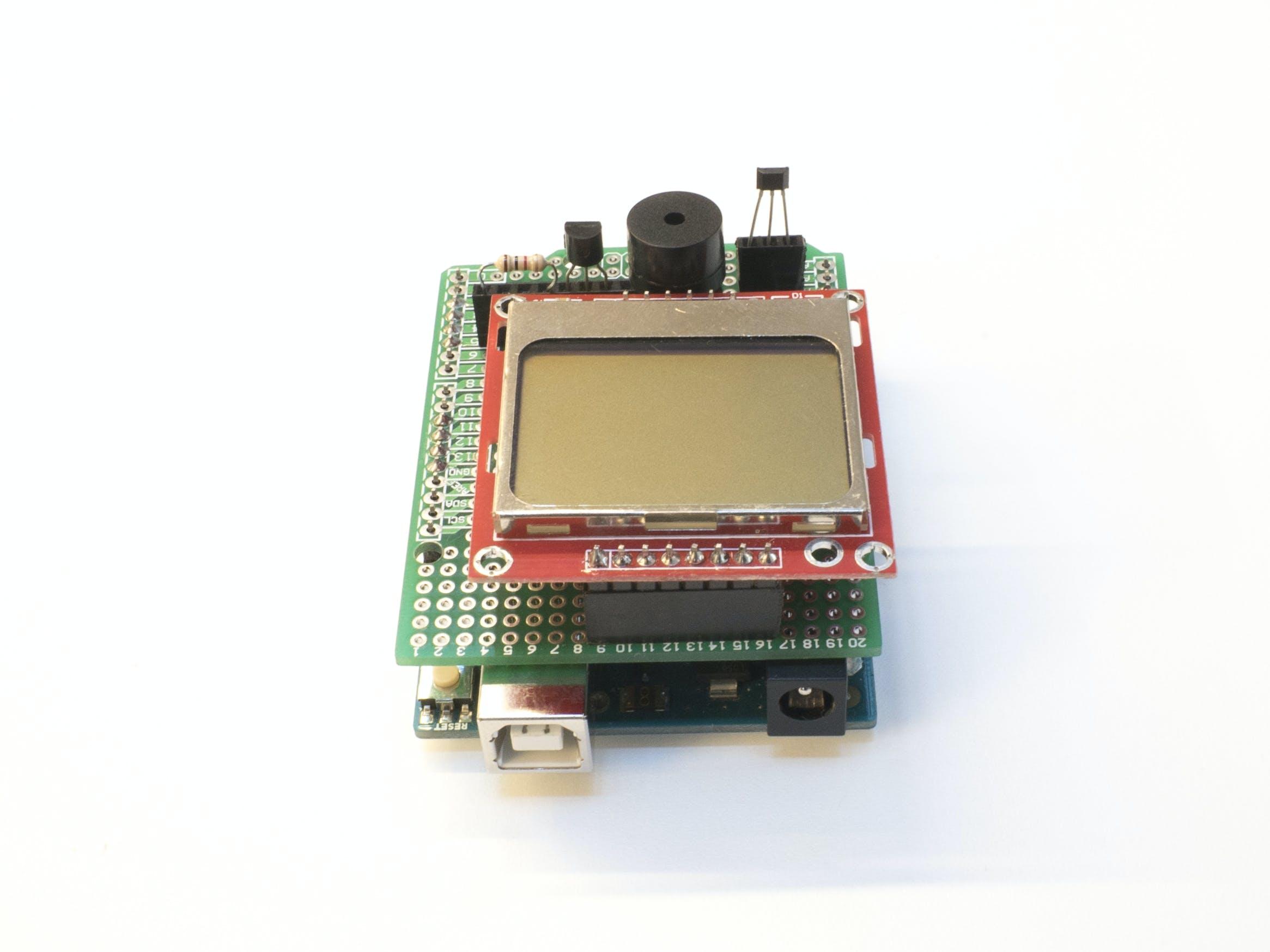 Shield and Arduino of Giftduino