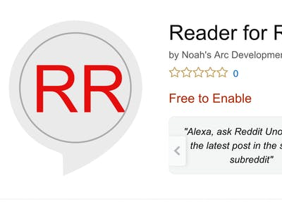 Browse Reddit with Your Voice via Alexa