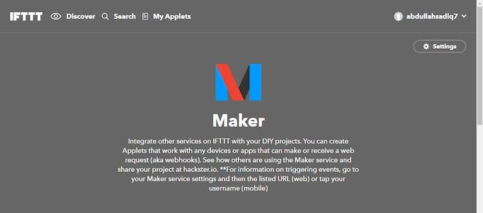The IFTTT Maker Channel works by webhooks
