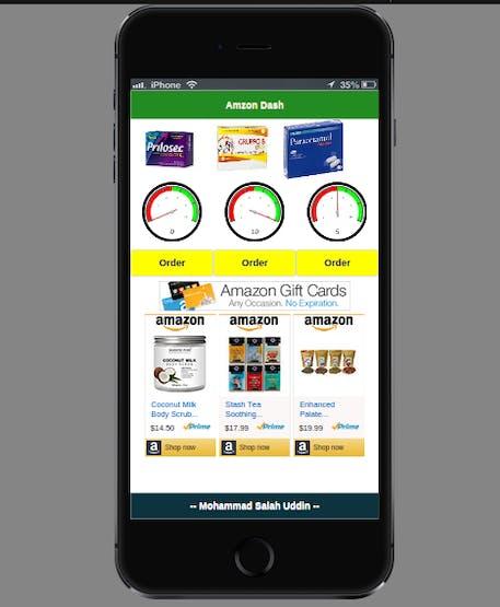 Mobile Application of Amazon Medicine Dash Box (Demo)