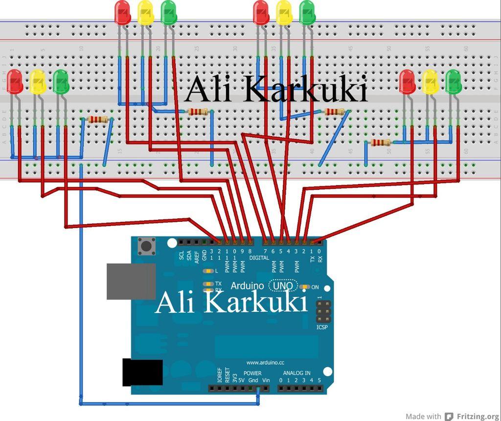 Arduino Traffic Light Wiring Diagram Smart Electrical Rgb Led Tutorial Using An Rgbl Example Circuit 4 Way Project Hubrhcreatearduinocc At Innovatehouston