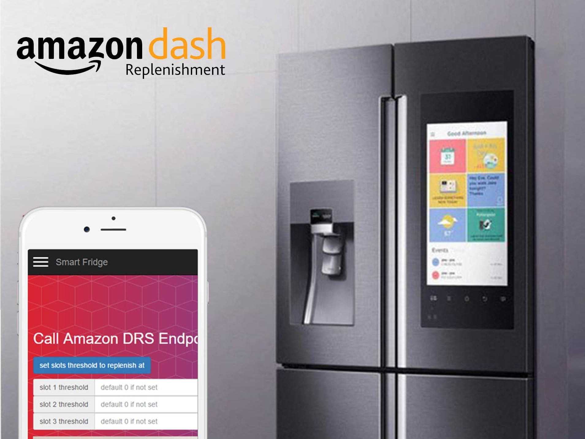 Smart fridge (self-replenishing) + Amazon DRS php API
