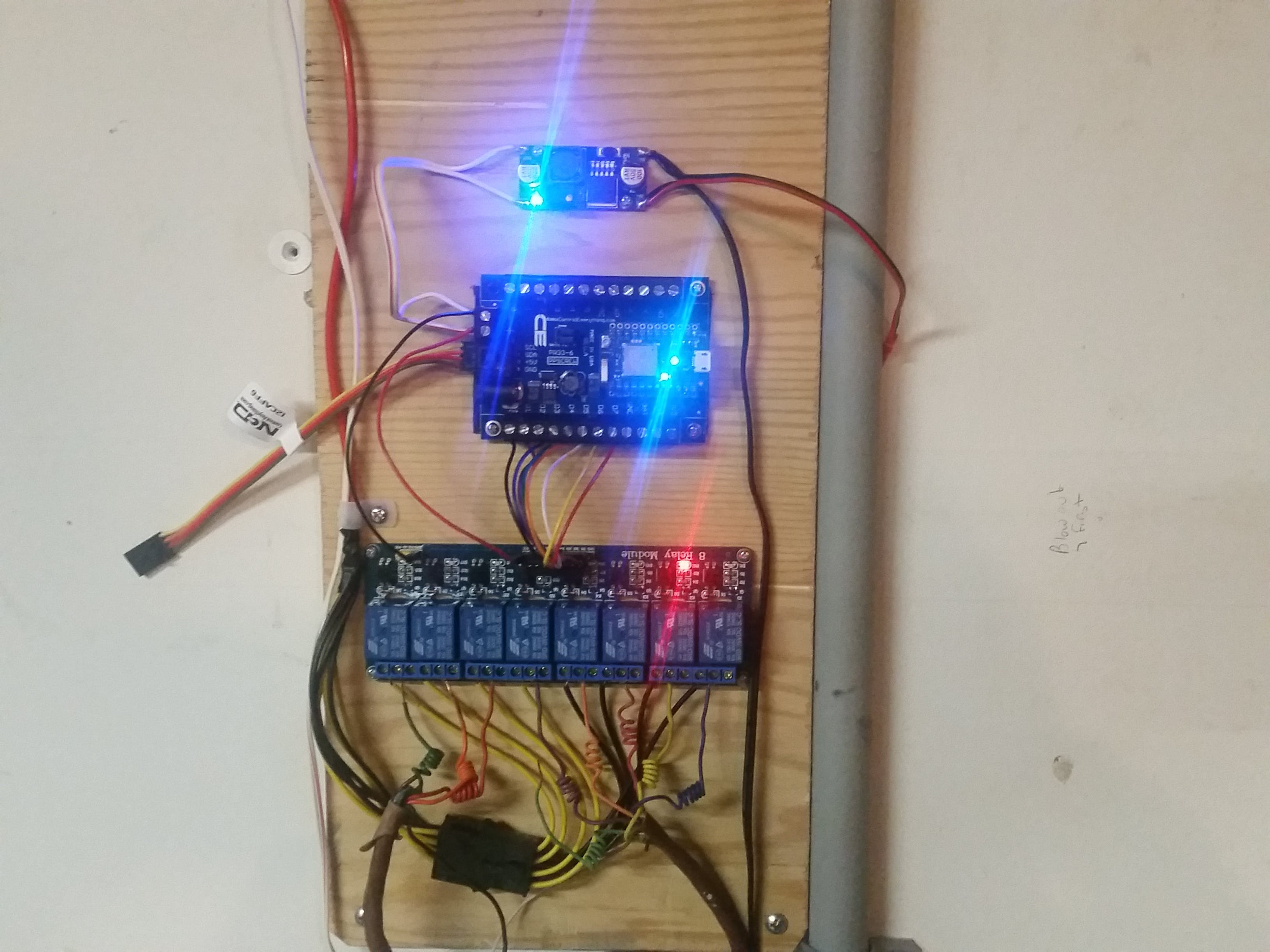 Updated setup with PARTICLE PHOTON I2C SHIELD instead of the bread board.