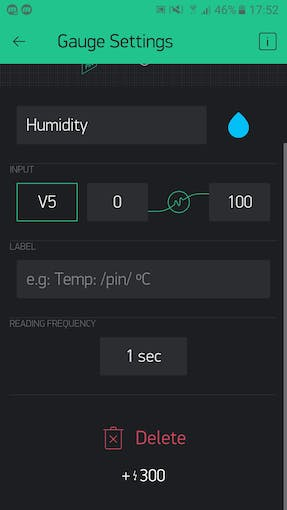 This is the setup for humidity