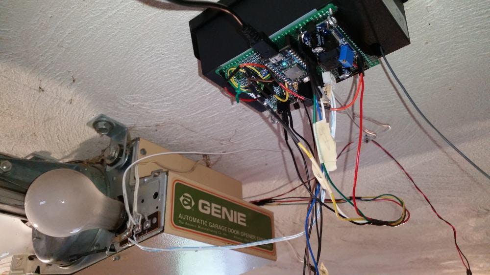 genie pro garage door opener wiring diagram overkill genie garage door opener hackster io  overkill genie garage door opener
