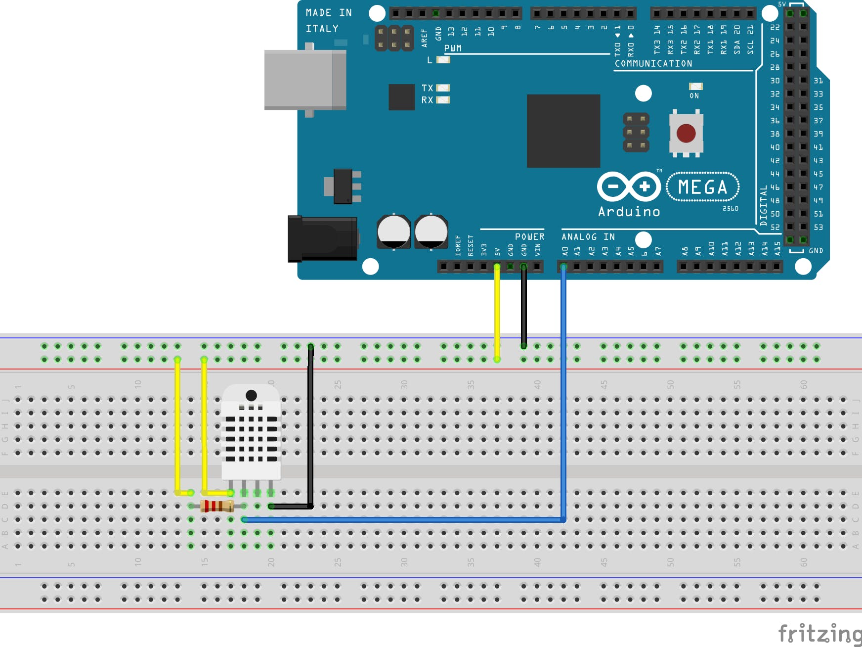 Humidity and Temperature Sensor for Time-based Measurements