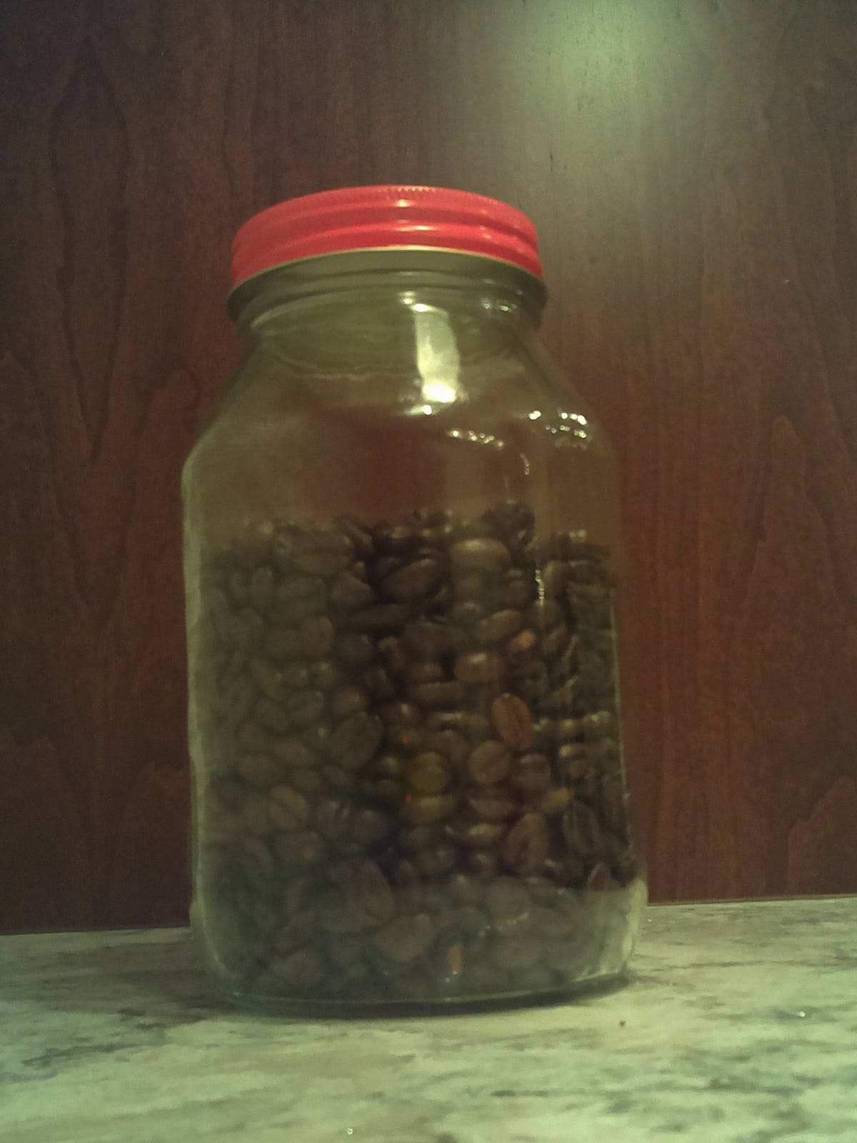 Picture of coffee bean jar when full taken by JavaWatch