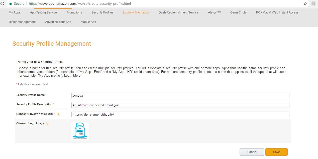 Security Profile Management Details