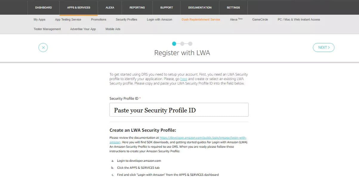 Register with LWA