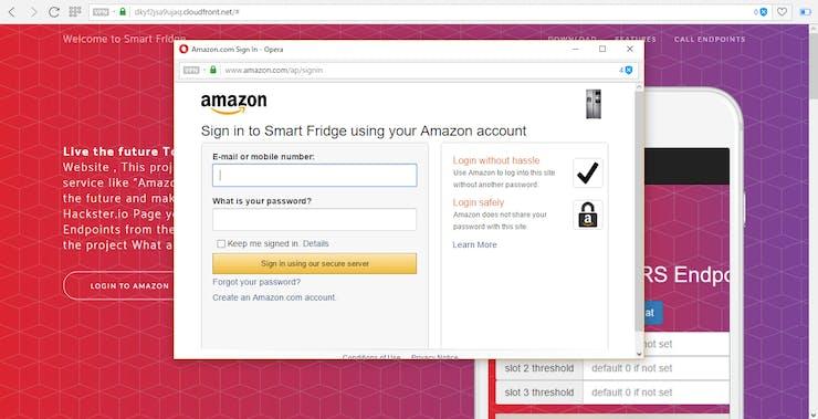 Smart fridge (self-replenishing) + Amazon DRS php API