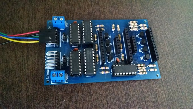 Multiple LED Display Board using 74HC595, ULN2803 and BC327