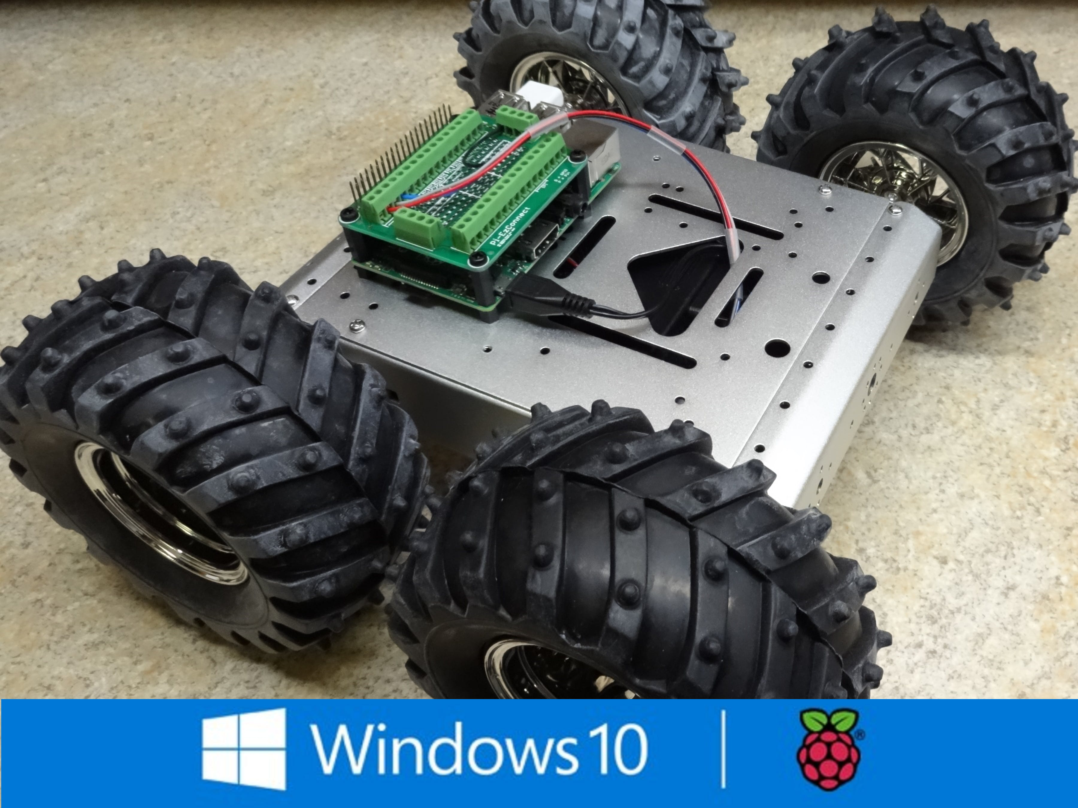 4 Wheel Drive, DC Motor Control for Raspberry Pi