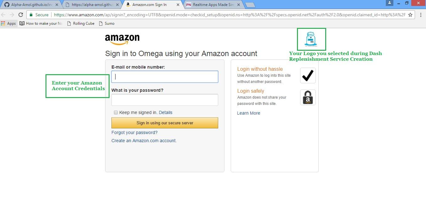Amazon Credentials