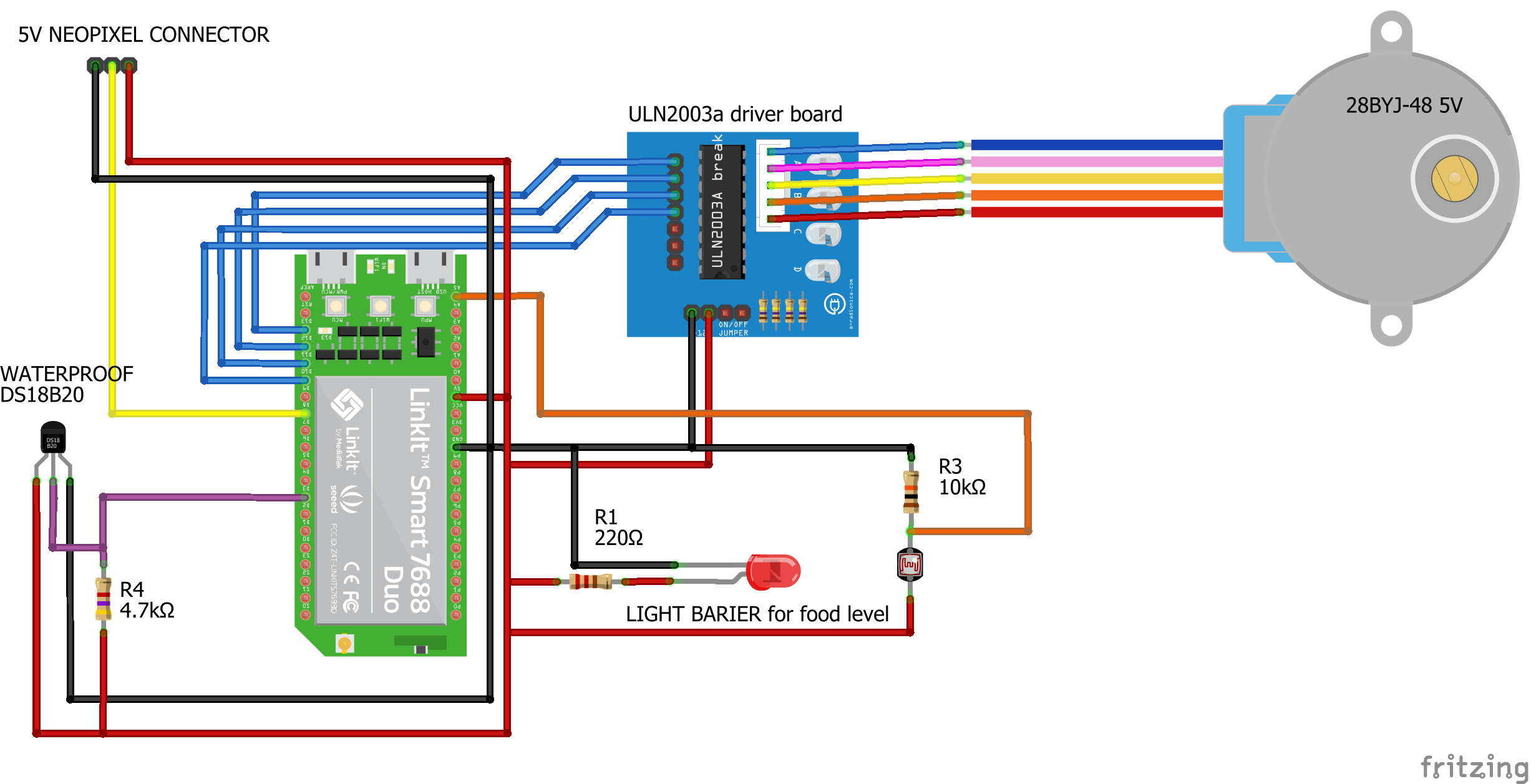 Schematic of IOT Aquarium controller