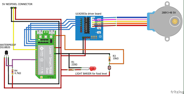 Schematic of IOT Aquarium controller