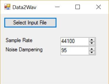You can select the sample rate and noise level when converting to .wav files