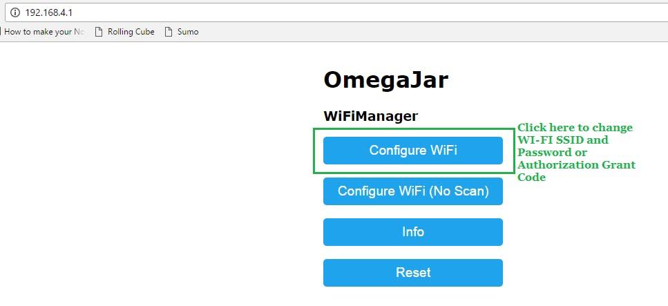Configure WiFi