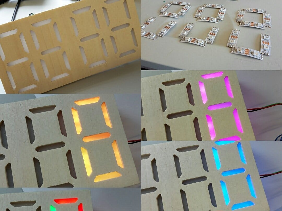NeoPixel 7-segment Display