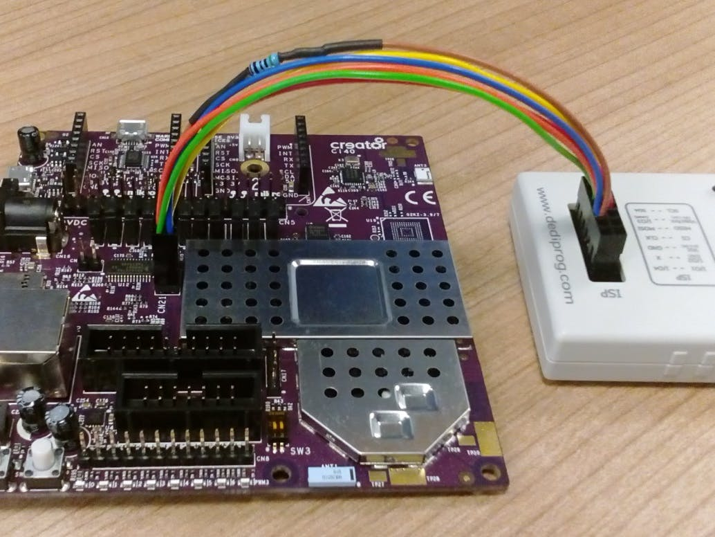Programming the Creator Ci40 NOR Flash with a Dediprog