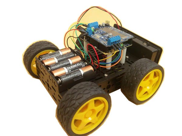 DG012-ATV Model with Arduino101 and Adafruit Motor Shield