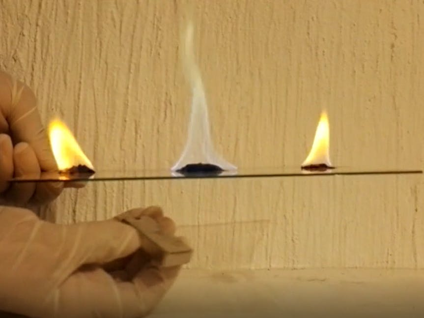 Change and control the color of a fire using magnetic field