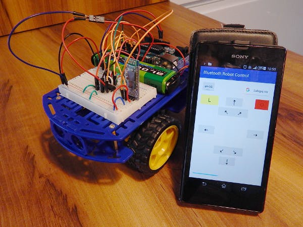 Voice controlled robot google cloud services hackster