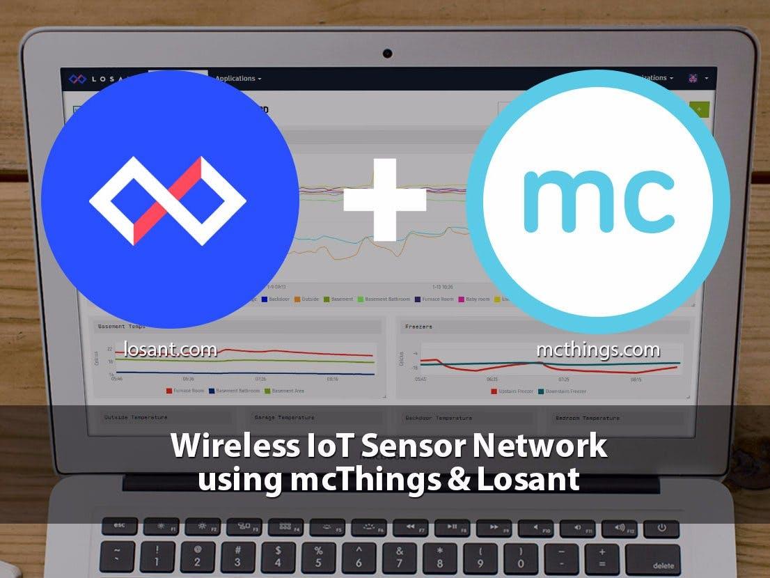 IoT Temperature Sensor Network - mcThings & Losant