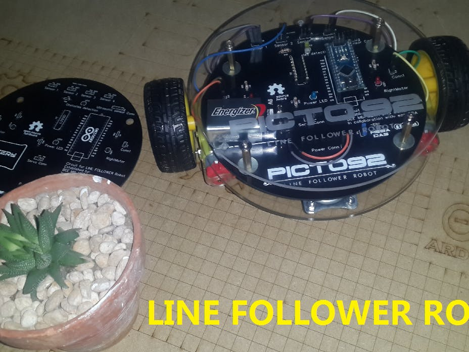 Line Follower Robot (PICTO 92)