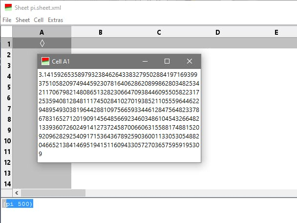 Calc - The Lisp Spreadsheet