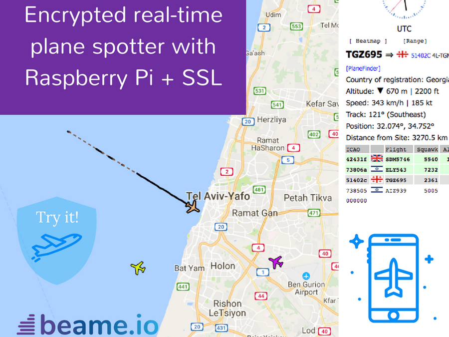 Encrypted, Real-time Plane Spotter with Raspberry Pi + SSL