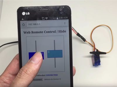 Web-Based Servo Control with PHPoC Shield for Arduino