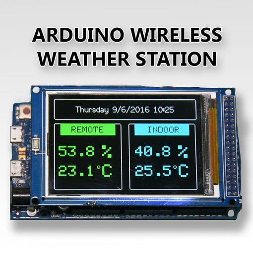 Arduino wireless weather station project hub