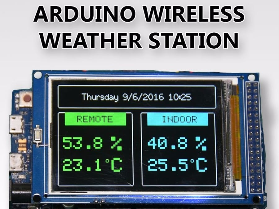 Arduino wireless weather station hackster
