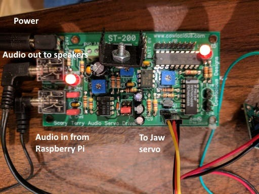 Audio servo controller board
