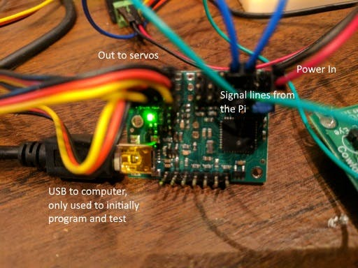 Mini Maestro Servo Controller board