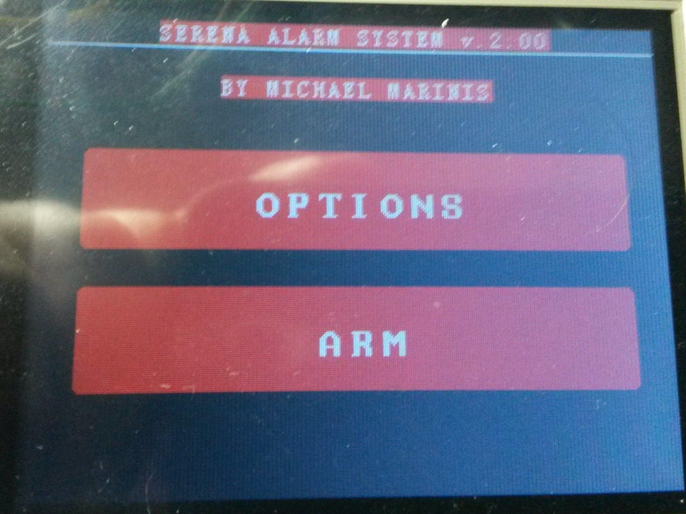 Arduino Alarm System: SERENA