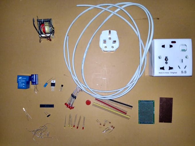 parts before soldering