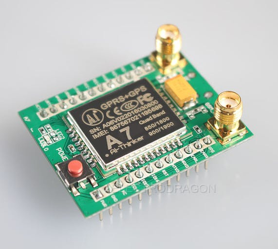 A7 GPRS/GPS module, image from electrodragon.com