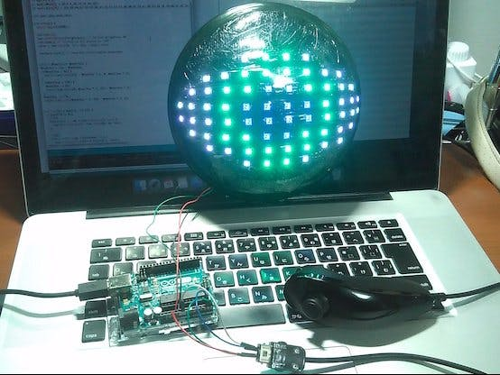 Neopixel LED Eyeball Controlled by Nunchuck