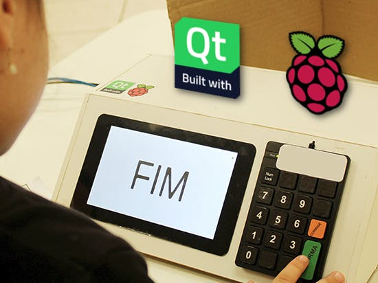 Electronic Voting Machine built with Raspberry Pi and Qt5