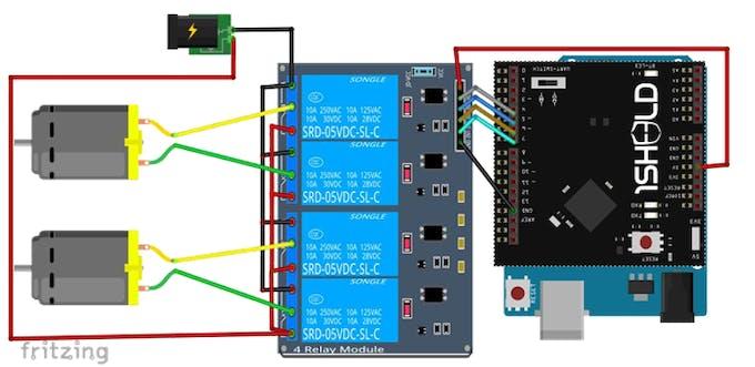 motors controlling circuit