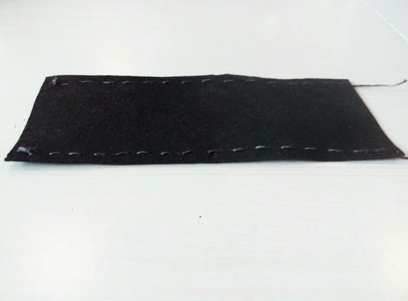 Eeonyx fabric with conductive thread wiring