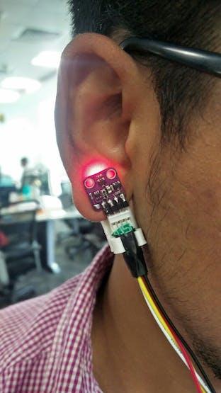 MAX30100 sensor along with a 3d printed clip