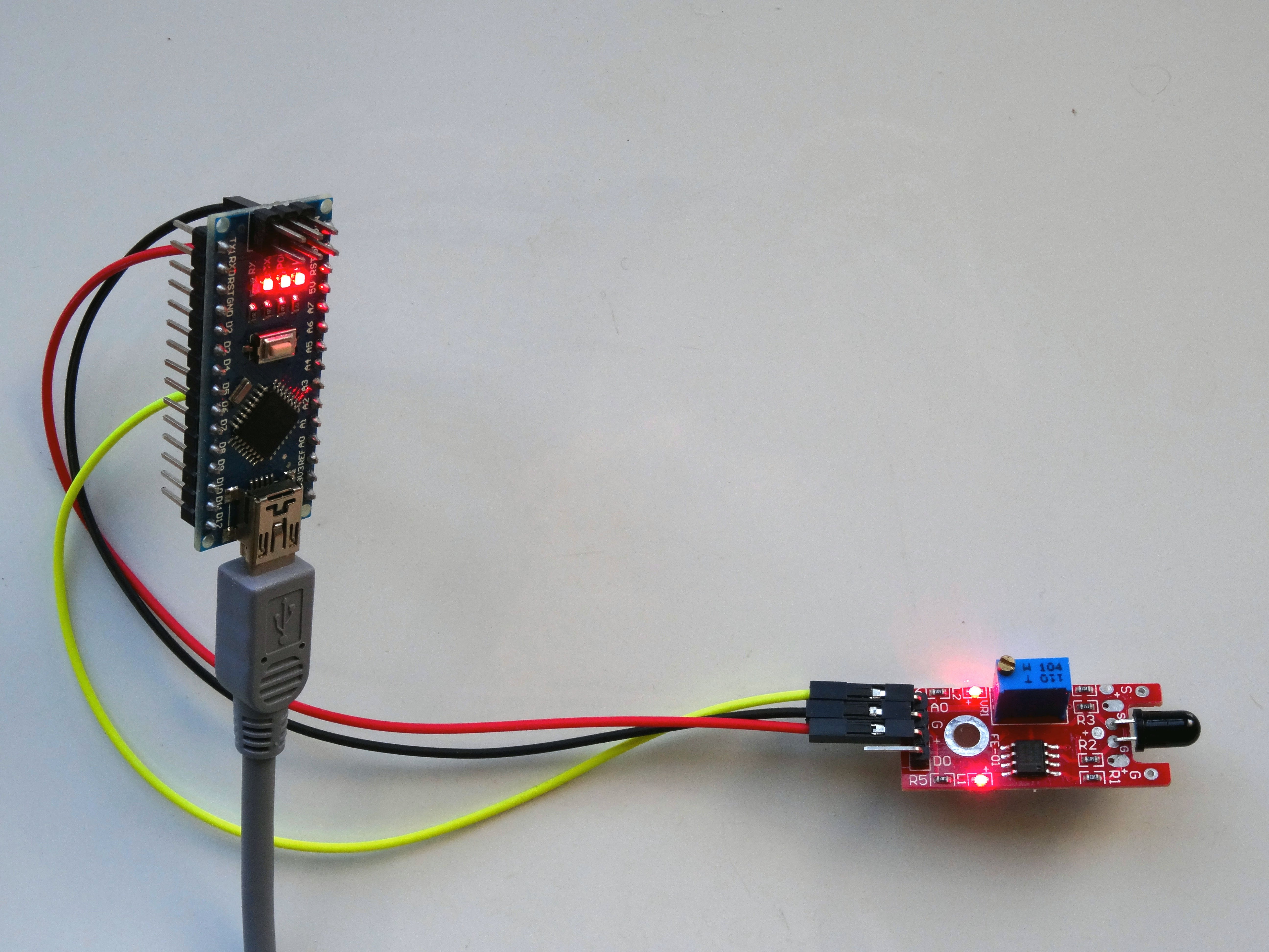 Infrared Flame Sensor Wiring Diagram Trusted Flames Circuit Arduino Nano With Visuino Hackster Io