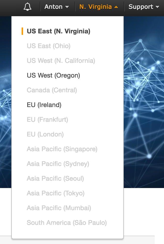 Regions that support Rekognition