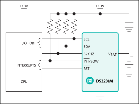 DS3231M - ±5ppm, I2C Real-Time Clock