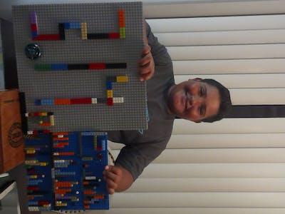 super lego pi bar graph and number