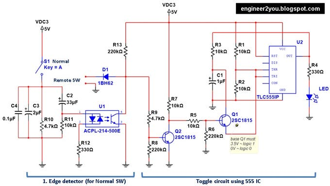 Toggle switch circuit tom2ayna7d